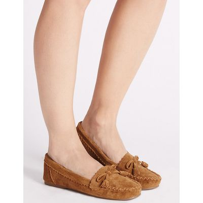 M&S Collection Suede Moccasin Slippers