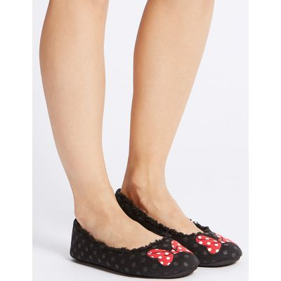 M&S Collection Minnie Bow Ballerina Slippers