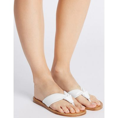 M&S Collection Leather Tubular Toe Sandals