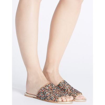 M&S Collection Embellished Mule Sandals