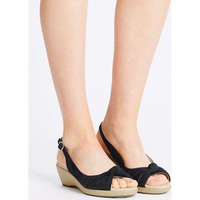 Footglove Suede Wedge Heel Sandals