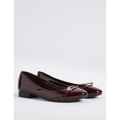 M&S Collection Trim Round Toe Ballerina Pumps