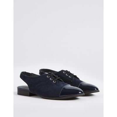 M&S Collection Block Heel Sling Back Brogue