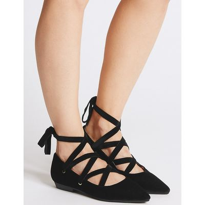 M&S Collection Lace-up Pump Shoes