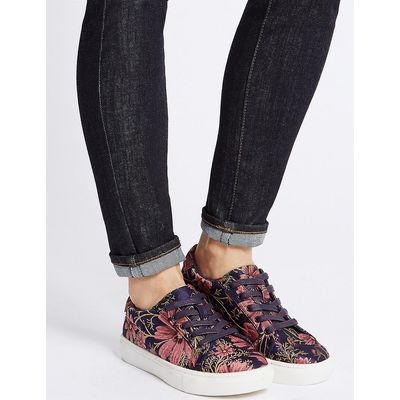 M&S Collection Floral Print Trainers