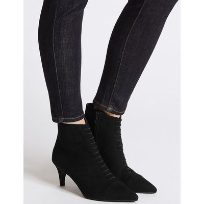 M&S Collection Lace Kitten Heel Ankle Boots