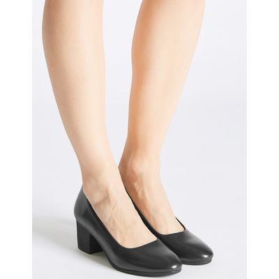 Footglove Leather Crepe Effort Court Shoes
