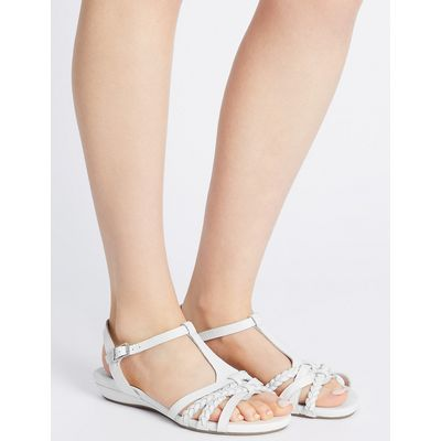 Footglove Wide Fit Leather Sandals