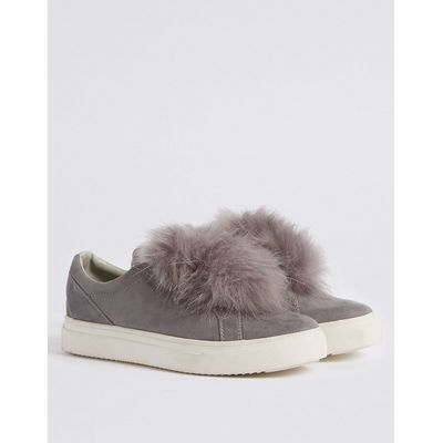 M&S Collection Pom Pom Trainers