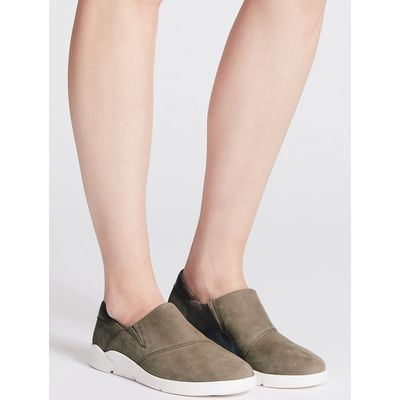 M&S Collection Leather Flex Slip-on Trainers