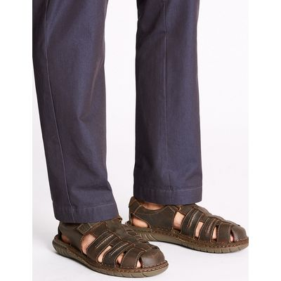 M&S Collection Leather Fisherman Riptape Sandals