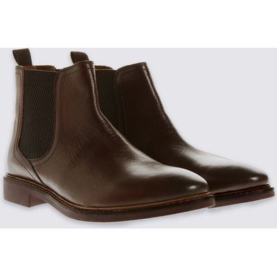 M&S Collection Leather Pull-on Chelsea Boots