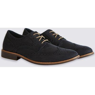 M&S Collection Suedette Brogue Shoes