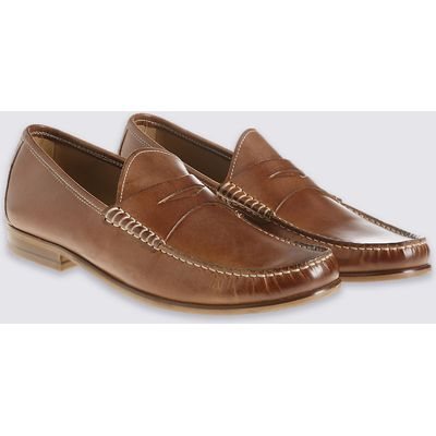 M&S Collection Luxury Leather Penny Slip-on Loafers