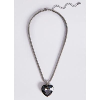 M&S Collection Glass Heart Pendant Necklace