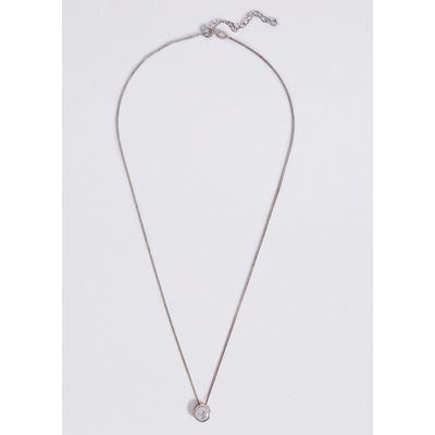 M&S Collection Sterling Silver Floating Stone Diamanté Necklace