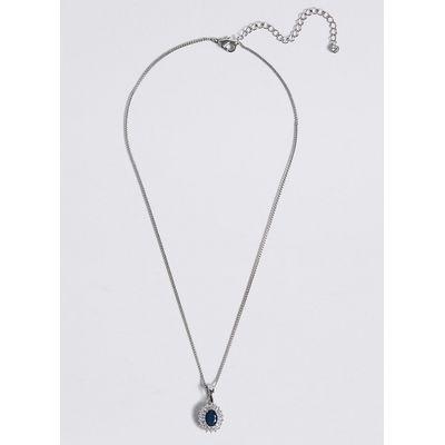 M&S Collection Platinum Plated Baguette Regal Necklace