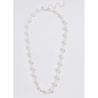 M&S Collection Capped Pearl Effect Necklace