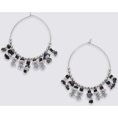 M&S Collection Craft Beaded Hoop Earrings