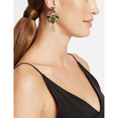M&S Collection Resin Floral Drop Earrings