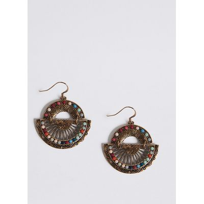 M&S Collection Half Fan Drop Earrings