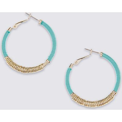 M&S Collection Metal Wrap Hoop Earrings