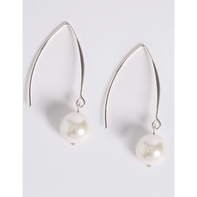 M&S Collection Pearl Effect Hanging Earnings