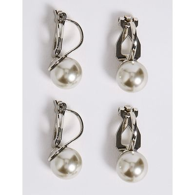 M&S Collection Pearl Effect Earrings