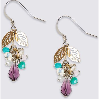M&S Collection Leaf Charming Drop Earnings