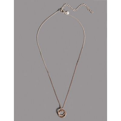 Autograph Sterling Silver Triple Ring Necklace