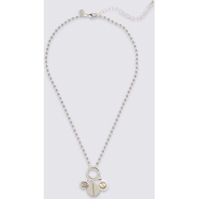M&S Collection Cluster Pendant Necklace