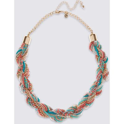 M&S Collection Beaded Twist Necklace
