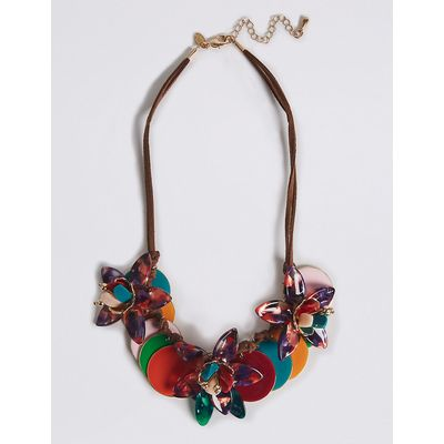 M&S Collection Flower Disc Collar Necklace