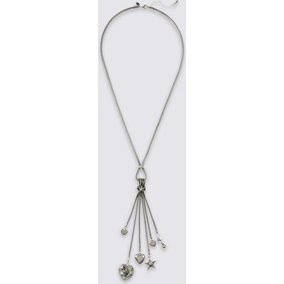 M&S Collection Metal Heart Tassel Necklace