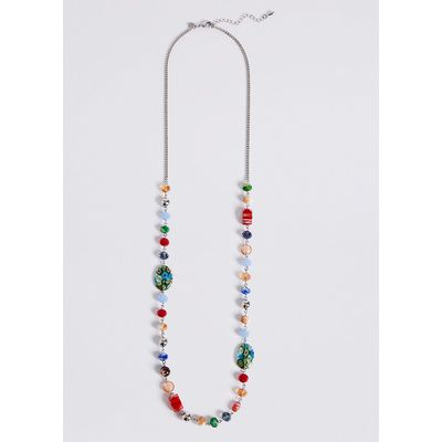 M&S Collection Long Floral Bead Necklace