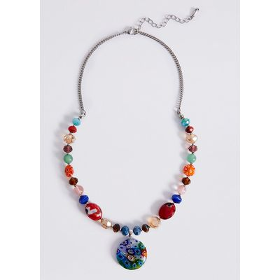 M&S Collection Floral Bead Disc Necklace