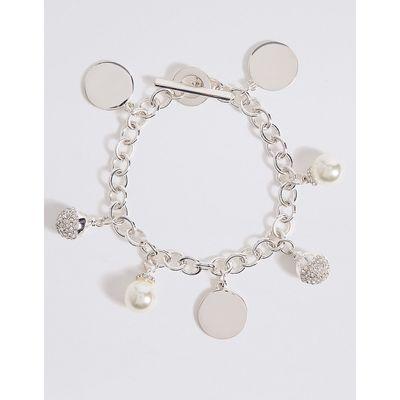 M&S Collection Modern Pearl Cluster Bracelet