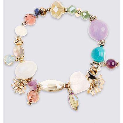 M&S Collection Mixed Beaded Bracelet