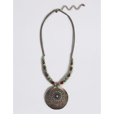 M&S Collection Filigree Disc Necklace