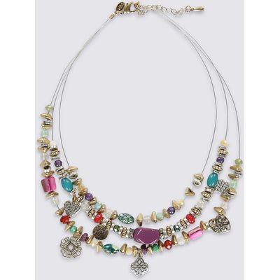M&S Collection Multi Row Necklace