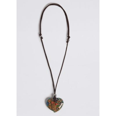 M&S Collection Heart Pendant Corded Necklace