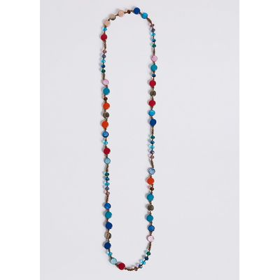 M&S Collection Multi Shell Chip Long Necklace
