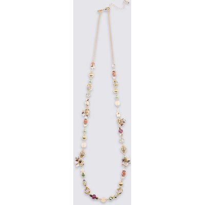 M&S Collection Charm Sparkle Rope Necklace