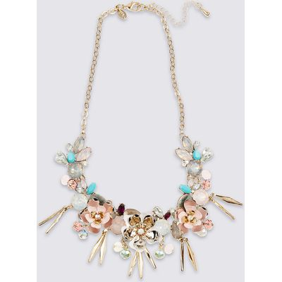 M&S Collection Multi Floral Collar Necklace