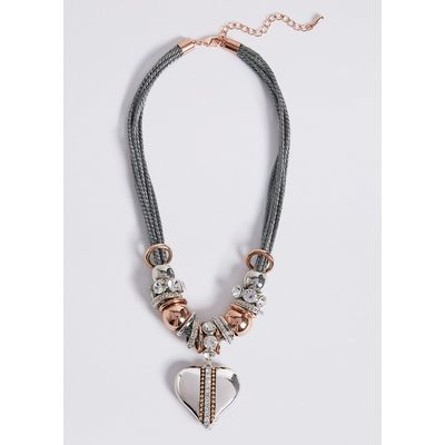 M&S Collection Rope Heart Necklace