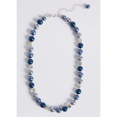 M&S Collection Square Mix Ball Necklace