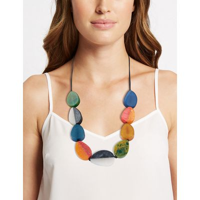 M&S Collection Oval Flat Cord Necklace