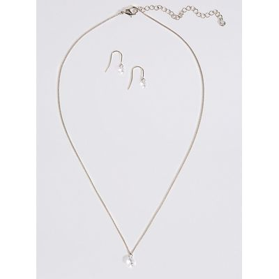 M&S Collection Floating Necklace & Stud Set
