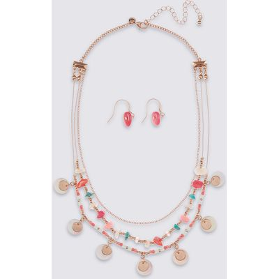 M&S Collection Charmy Disc Necklace & Earrings Set