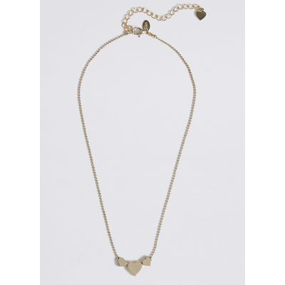 M&S Collection Triple Heart Necklace